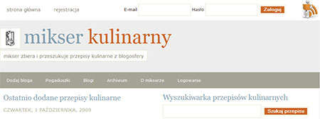 agregator blogów kulinarnych