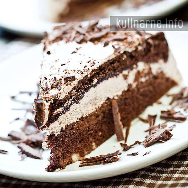 Ciasto kakaowe z kremem