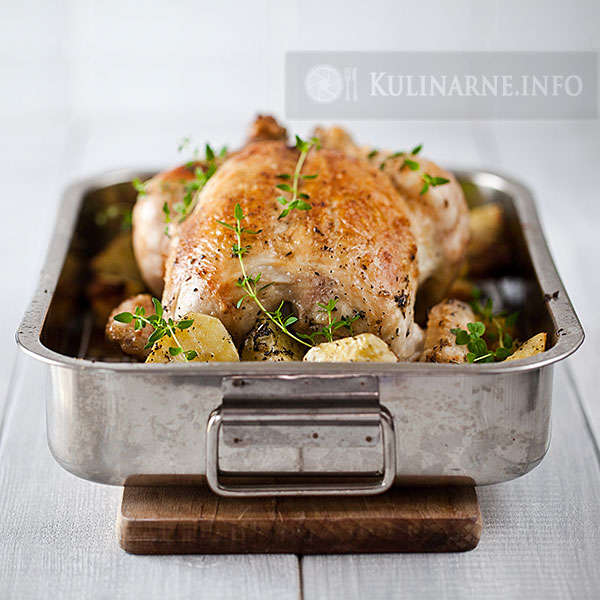Kurczak z nadzieniem ziołowym