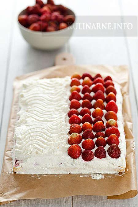 Proste ciasto z truskawkami na Euro 2012