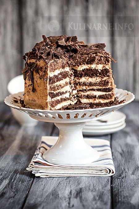 Wielowarstwowy tort urodzinowy