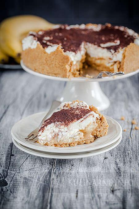 Banoffee – proste szybkie ciasto z bananami bez pieczenia