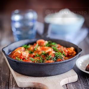 Jednogarnkowy kurczak w pomidorach