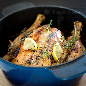 Pieczony kurczak z cytryną i tymiankiem