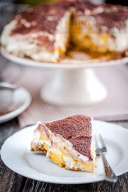 Mangoffee – proste szybkie ciasto z mango bez pieczenia