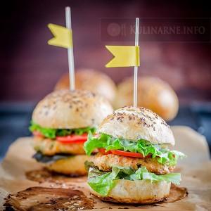 Domowe fishburgery z łososia