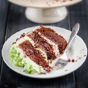 Tort z kremem miętowym